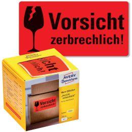 AVERY Zweckform Etikettenrolle Vorsicht zerbrechlich!