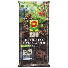 COMPO BIO Hochbeet- und Gewächshauserde, 40 Liter