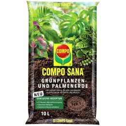COMPO SANA Grünpflanzen- und Palmenerde, 10 Liter