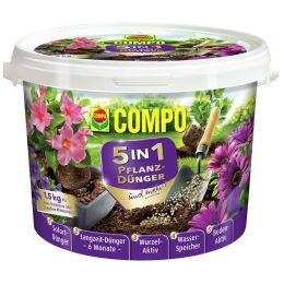 COMPO 5in1 Pflanz-Dünger und mehr, 1,5 kg Eimer