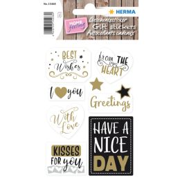 HERMA Geschenke-Sticker HOME Best Wishes
