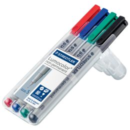 STAEDTLER Lumocolor NonPermanent-Marker 311S, 4er Etui