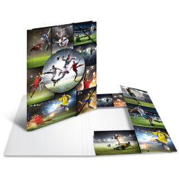 HERMA Eckspannermappe Football, Karton, DIN A4