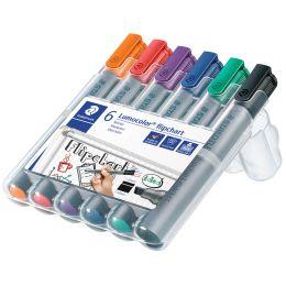 STAEDTLER Lumocolor Flipchart-Marker 356B, 6er Etui