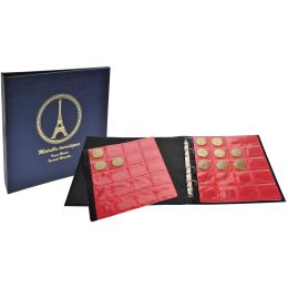 EXACOMPTA Sammel-Ringbuch für 100 Souvenir-Medaillen, blau