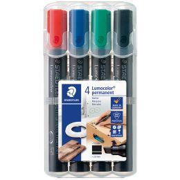 STAEDTLER Lumocolor Permanent-Marker 350, 4er Etui