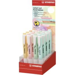 STABILO Textmarker swing cool Pastel Edition, 16er Display