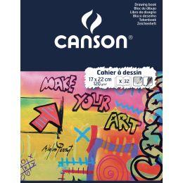 CANSON Zeichenheft, blanko, 120 g/qm, 170 x 220 mm
