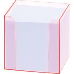 folia Zettelbox Luxbox mit Leuchtkanten, pink, bestückt