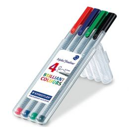 STAEDTLER Fineliner triplus BRILLIANT COLOURS, 4er Etui