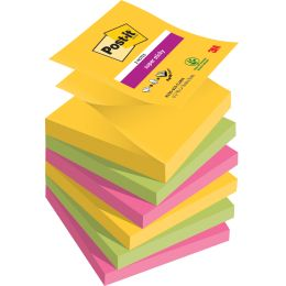 Post-it Haftnotizen Super Sticky Z-Notes, 76 x 76 mm, Rio