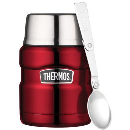 THERMOS Speisegefäß STAINLESS KING, 0,47 Liter, rot