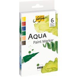 KREUL Aqua Paint Marker SOLO Goya, Warm Colors 6er-Set