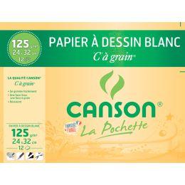 CANSON Zeichenpapier C à Grain, 320 x 240 mm, 125 g/qm