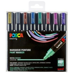 POSCA Pigmentmarker PC-5M, 8er Box, farbig sortiert