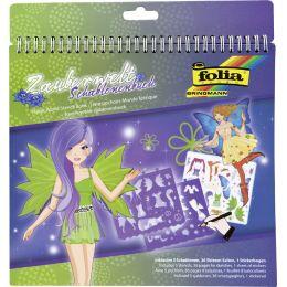 folia Schablonenbuch Zauberwelt, groß