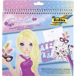 folia Schablonenbuch Fashion Girl, groß