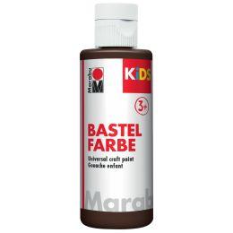 Marabu KiDS Bastelfarbe, 80 ml, dunkelbraun 045