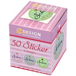 AVERY Zweckform ZDesign Sticker Schön, dass du da bist!