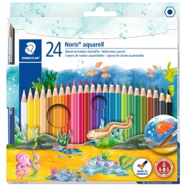 STAEDTLER Aquarellstift Noris aquarell, 24er Kartonetui