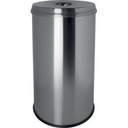 helit Stahl-Papierkorb the guardian, 50 Liter, lichtgrau