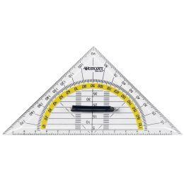 WESTCOTT Geodreieck, Hypotenuse: 220 mm, mit Griff
