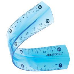 WESTCOTT Flachlineal, Kunststoff, Länge: 150 mm, flexibel