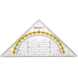 WESTCOTT Geodreieck zum Abheften, Hypotenuse: 140 mm
