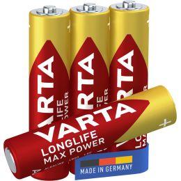 VARTA Alkaline Batterie LONGLIFE Max Power, Micro (AAA)