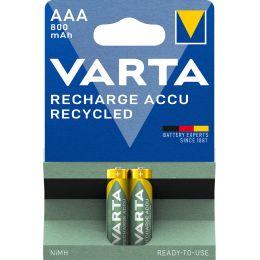 VARTA NiMH Akku RECHARGE ACCU Recycled, Micro AAA, 800 mAh