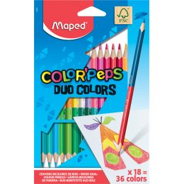 Maped Dreikant-Buntstift COLORPEPS DUO, 18er Kartonetui