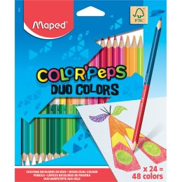 Maped Dreikant-Buntstift COLORPEPS DUO, 24er Kartonetui