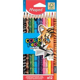 Maped Dreikant-Buntstift COLORPEPS Animals, 12er Kartonetui