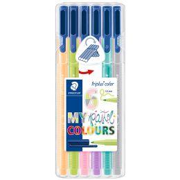 STAEDTLER Fasermaler triplus color MY pastel COLOURS, 6er