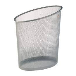 ALBA Papierkorb Mesh, aus Drahtmetall, 18 Liter, silbergrau