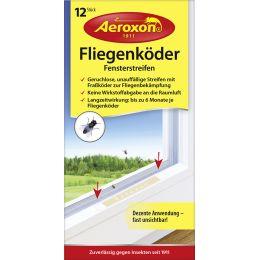 Aeroxon Fliegenköder Fensterstreifen, 12er Set