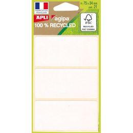 agipa Vielzweck-Etiketten, 34 x 75 mm, weiß, 100% recycelbar