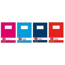 herlitz Oktavheft x.book, DIN A6, kariert, 70 g/qm, 60 Blatt