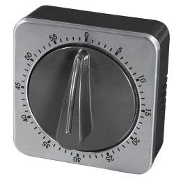 xavax Kurzzeitwecker, analog, silber / schwarz