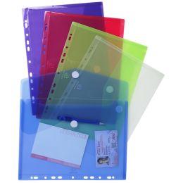 EXACOMPTA Dokumententasche, DIN A4, PP, farbig sortiert