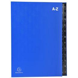EXACOMPTA Pultordner, DIN A4, A-Z, 24 Fächer, blau