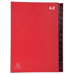 EXACOMPTA Pultordner, DIN A4, A-Z, 24 Fächer, rot