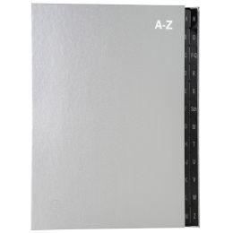 EXACOMPTA Pultordner, DIN A4, A-Z, 24 Fächer, silber