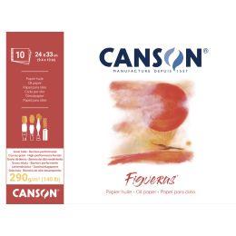 CANSON Zeichenpapierblock Figueras, 330 x 240 mm, 290 g/qm