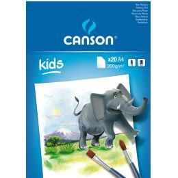 CANSON Malblock, DIN A4, 200 g/qm, 20 Blatt