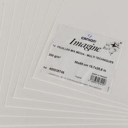 CANSON Zeichenpapier Imagine, 500 x 650 mm, 200 g/qm, weiß