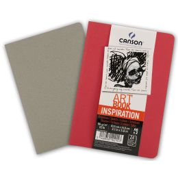 CANSON Skizzenheft Art Book Inspiration, A4, rot / grau