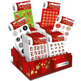 HERMA Weihnachts-Sticker DECOR Adventskalender, im Display