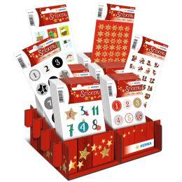 HERMA Weihnachts-Sticker DECOR Adventskalender, im Display