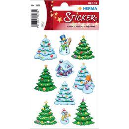 HERMA Weihnachts-Sticker DECOR Weihnachts-Winterwald